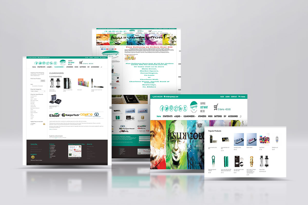 Vapeways E-Commerce Site